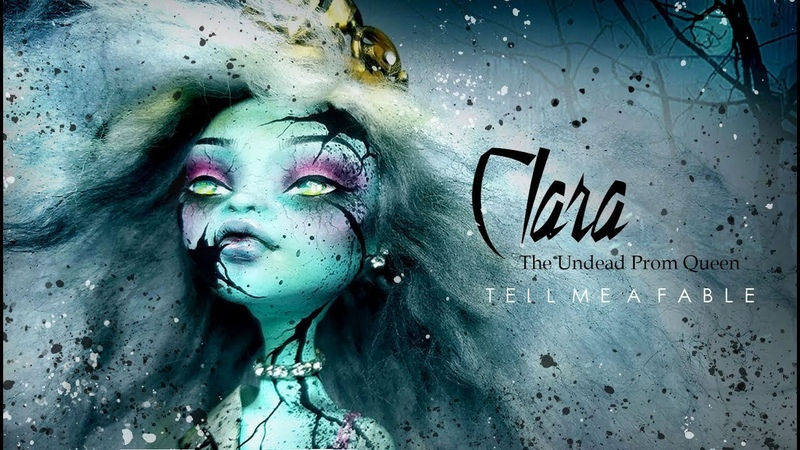 Doll Figurine CLARA THE UNDEAD Prom Queen | Zombie | Monster High Doll Repaint Custom Ooak