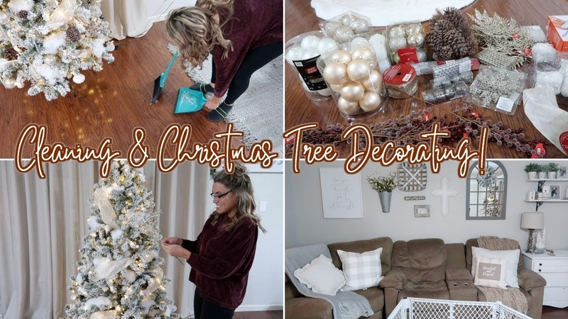 CLEAN DECORATE WITH ME FOR CHRISTMAS 2018 | DECORATING MY TREE CLEANING MOTIVATION
