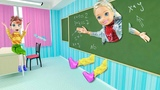 ПРОШЛА СКВОЗЬ СТЕНУ! Мультфильм с куклами Барби