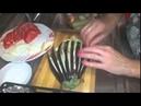 İlginç Patlıcan Yemeği Yapan Kadın Farklı Kesim