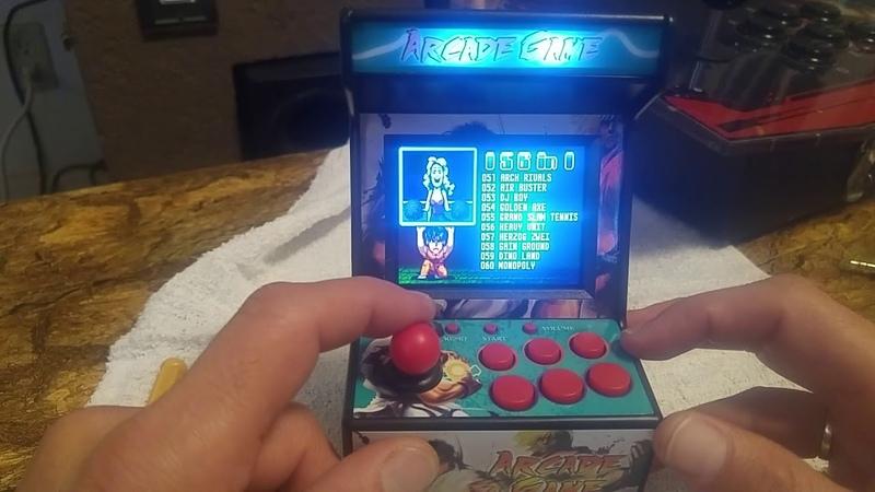 ARCADE GAME 156 IN 1 MINI SEGA ARCADE .