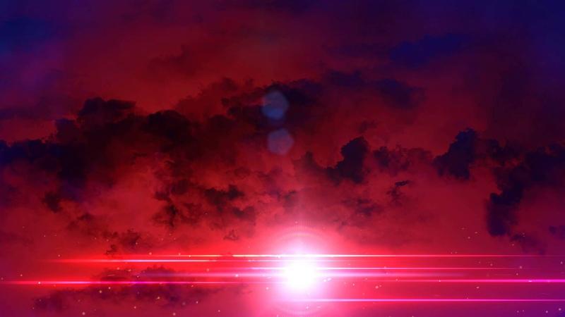 Футаж красные облака HD