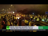 Yellow Vest protest grips Calais France gears up for more unrest - YouTube