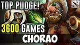 CHARAO 3600 Games PUDGE TOP PLAYER Dota 2