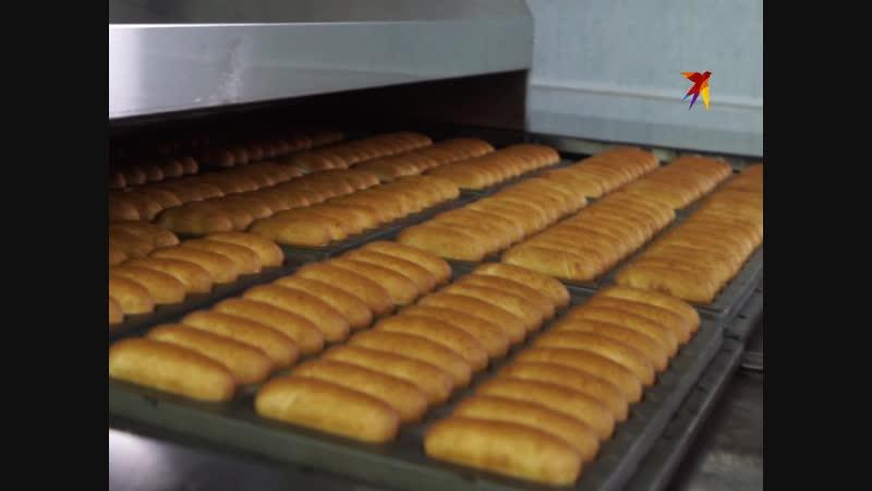 Производство батона Подмосковный и булочек для хот догов на хлебокомбинате СМАК