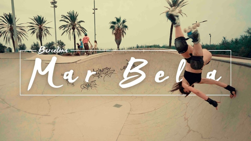 Роллеры на квадах в скейтпарке Mar bella (Барселона)