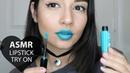 ASMR Lipstick Application Mouth Sounds Tapping CloseUp Tena ASMR ♡