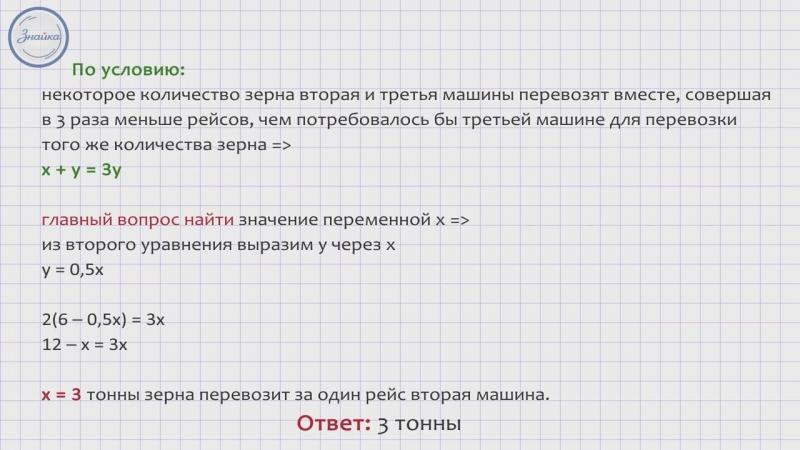 Алгебра 9 Методика решения задач на производительность и грузоперевозки 2