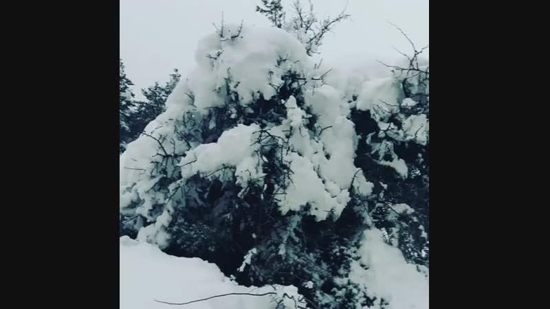 После снегопада на новый год в Трикала Коринфия Греция