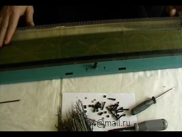 Замена платы игольницы и пружины на вязальной машине Нева-5