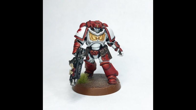 Miniature Painting   How To Paint Primaris Space Marines (Canadian Style!)