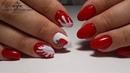 Яркий дизайн ногтей Сочная клубника на ногтях Простой дизайн ногтей