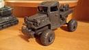 Военный грузовик слепил из пластилина под ракетную установку