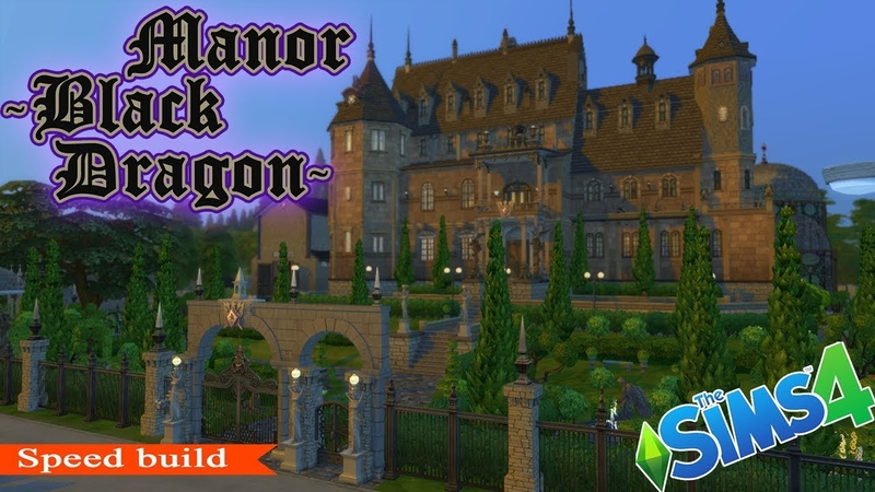 The Sims 4: Building ● English manor Black Dragon - Inspired by Black Mirror castle
