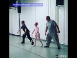 Daddy-Daughter Valentines Ballet Class Held by Dance Center _ ABC News
