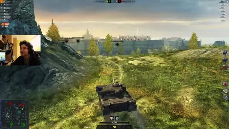 WoT Blitz Топовый ваншот и как затащить со слабым игроком World of Tanks Blitz WoTB