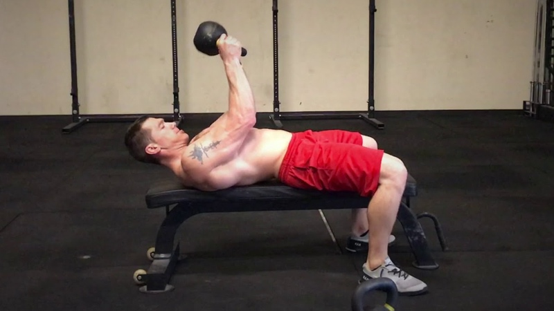 KB Bent Arm Lat Pull Overs