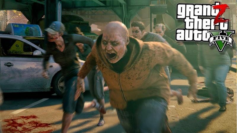 GTA 5 Зомби Апокалипсис ТОЛПА ЗОМБИ УНИЧТОЖИЛА БАЗУ ЛЮДЕЙ В ГТА 5 МОДЫ 28 GTA 5 ОБЗОР МОДА ВИДЕО