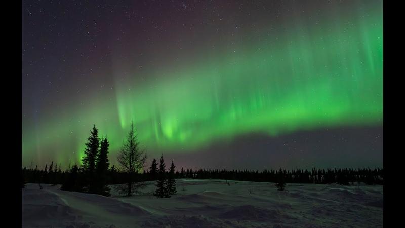 Beautiful Rare Aurora Borealis Over Fermont, Quebec Sky