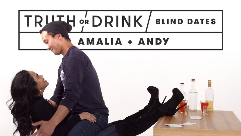 Blind Dates Play Truth or Drink (Amalia Andy) | Truth or Drink | Cut