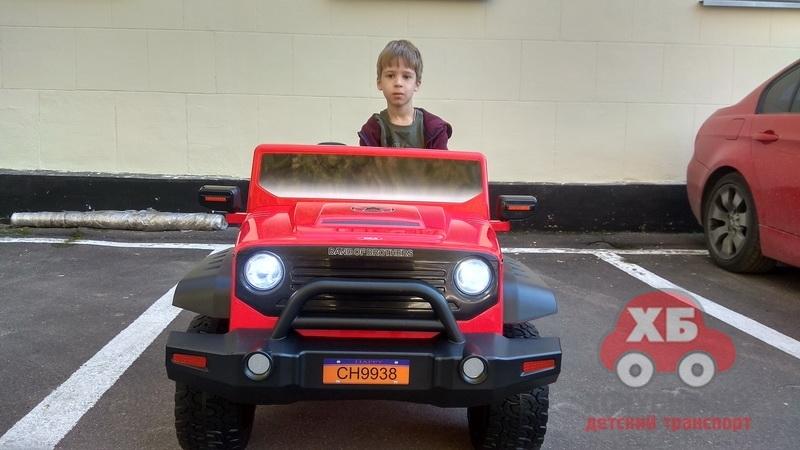 Скоро! Полный обзор детского электромобиля Jeep CH 9938 ДВУХМЕСТНЫЙ на HochuBibiku.ru
