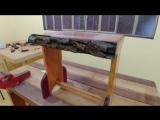 Стульчик из 6 видов древесины