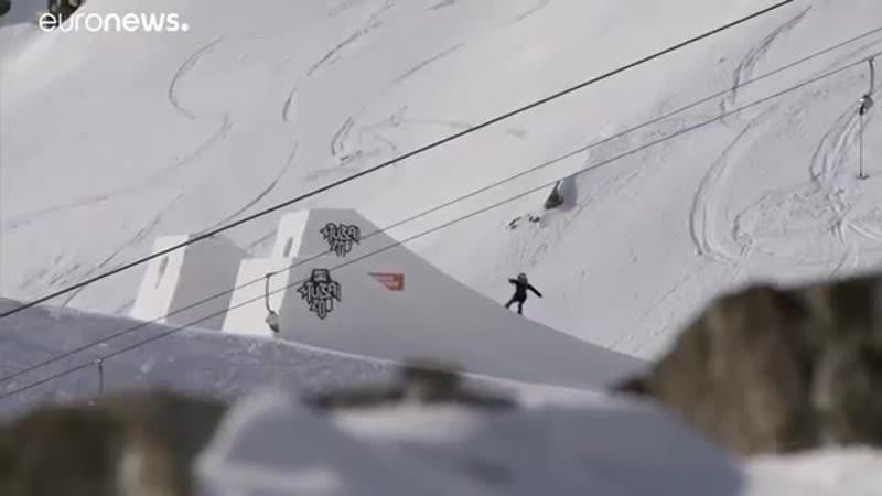 Впервые в мире. Австрийская сноубордистка Анна Гассер - исполнила прыжëк Triple Cork - элемент с вращением на 1260 градусов.