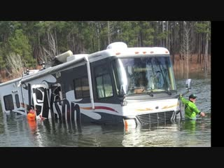 Rv goes into lake (video using powerstick-53 powered gopro mount