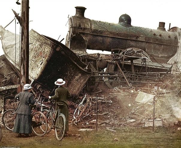 Железнодорожная катастрофа в Квинтиншилле (Шотландия) на ветке, соединявшей Глазго и Карлайл, 22 мая 1915 г.