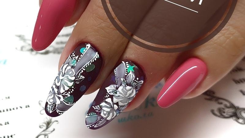 кружева на ногтях Кружевной дизайн ногтей Нежный дизайн ногтей