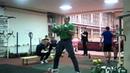 Workout 27.01.2012 Ivan Denisov long cycle 27,5 kg kettlebells 8minutes 104 reps.MP4