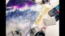 Клубные встречи Wings of Art №23 спиртовые чернила микс медиа панно атс и артбуки
