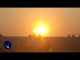 Just before sunset Second sun or Nibiru recorded in Poland! Oct 7,2018