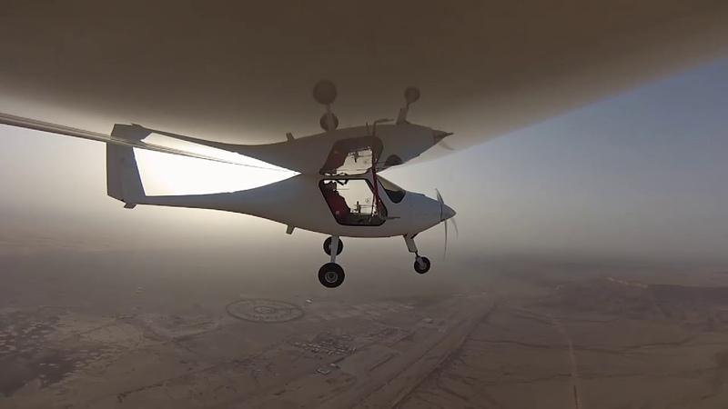 The flight of the Pipistrel Sinus aircraft converted into UAV