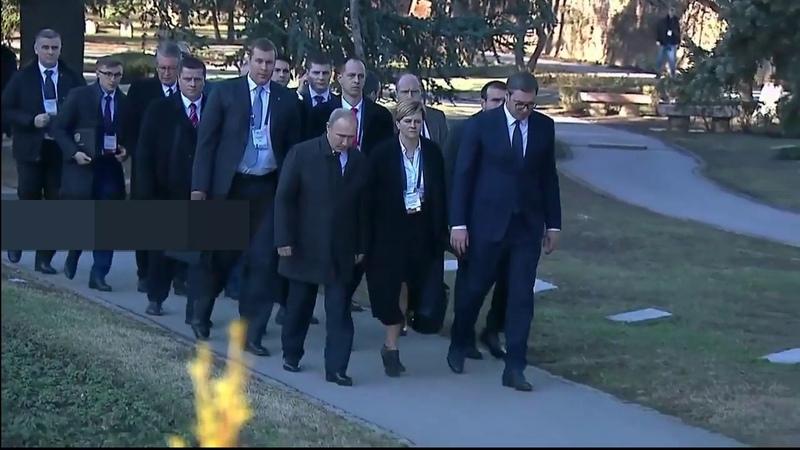 как Путина по Белграду выгуливали