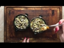 Кукурузная каша с курагой в кленовом сиропе и орешками