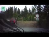 Появилось видео лобового столкновения Hyundai Elantra и «Газели» в Ленобласти