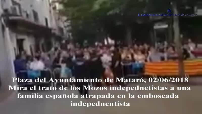 Detención «ilegal» de un español por los Mozos en Mataró por defender a una española y su hija