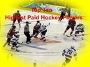 Highest Paid Hockey Players in 2017 2018 NHL Season