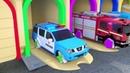 Haciendo autos utilizando moldes playdoh, aprende colores con vehículos