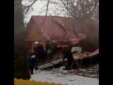 На жилой дом в Подмосковье упал самолёт