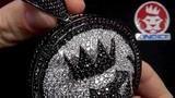 Custom Made King Ice Black Magnus Lion CZ Medallion Pendant Hip Hop Jewelry Kingice.com