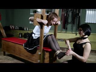 Tickling punishment for slave girl