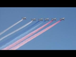 Авиационная часть парада в День ВМФ в Петербурге
