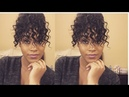 Curly Faux Bun With Bangs|Natural Hair|Short/Awkward Stage