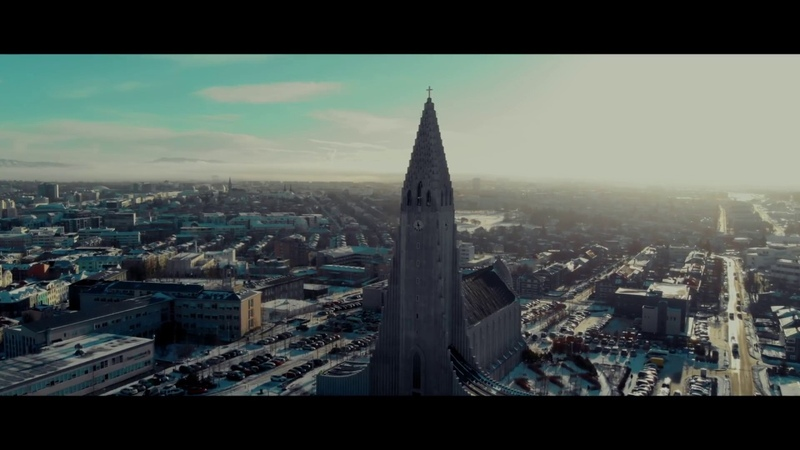 Reykjavik, Iceland in 4K!! The capitol through the Mavik Air!
