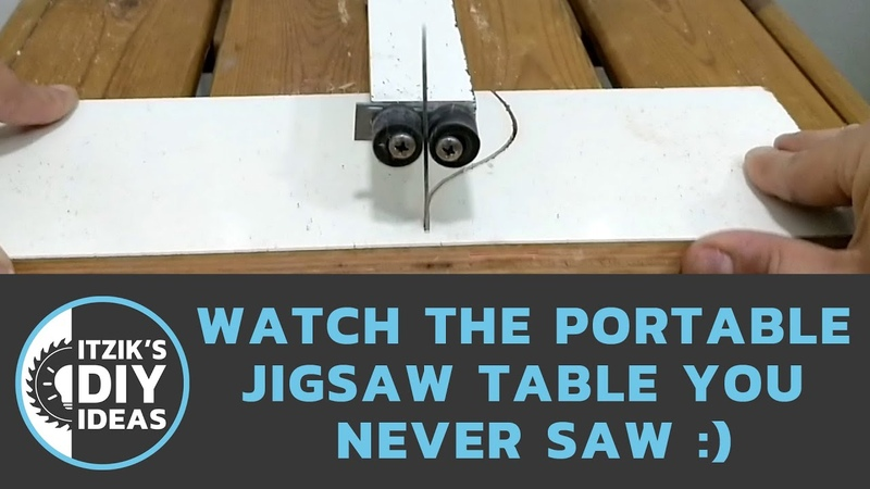 DIY Jigsaw table you never saw - using a garden table thread inserts