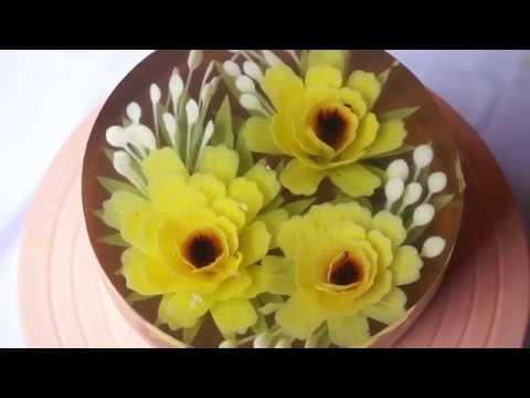 How to make Gelatin Art flowers - Gelatin art tutorial | Gelatina Artística, 3D Jelly