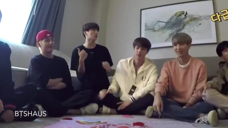 Jk tries to hold jins hands | Jinkookville