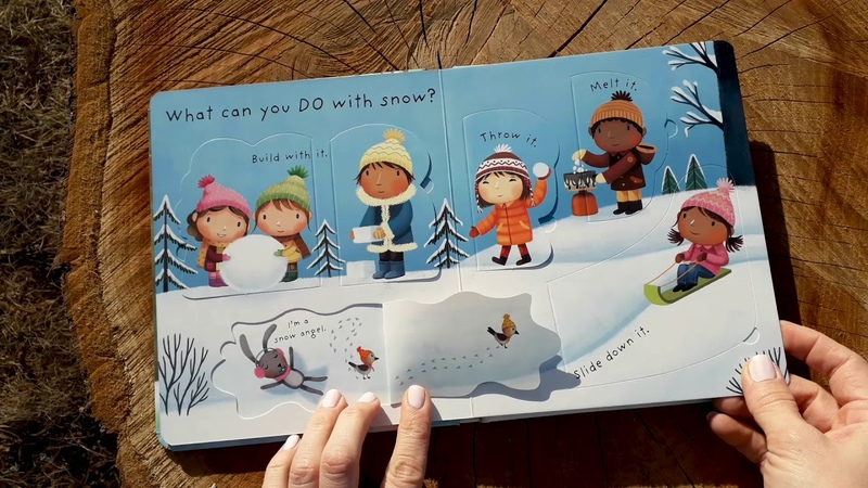 A Look Inside the Usborne Lift the Flap Very First Questions and Answers What is Snow Book - Usborne